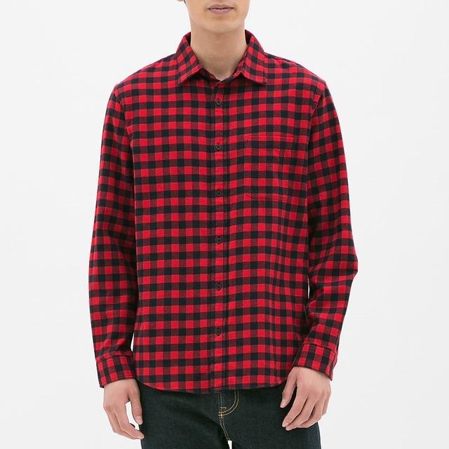 GUのフランネルチェックシャツ