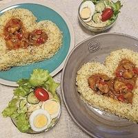 ハートがワンポイント♡バレンタインは簡単&可愛い「ハートごはん」