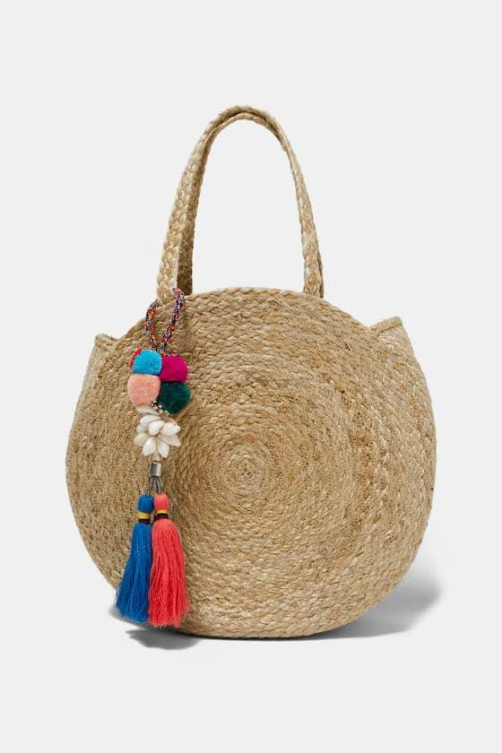 ZARAのジュートバッグ