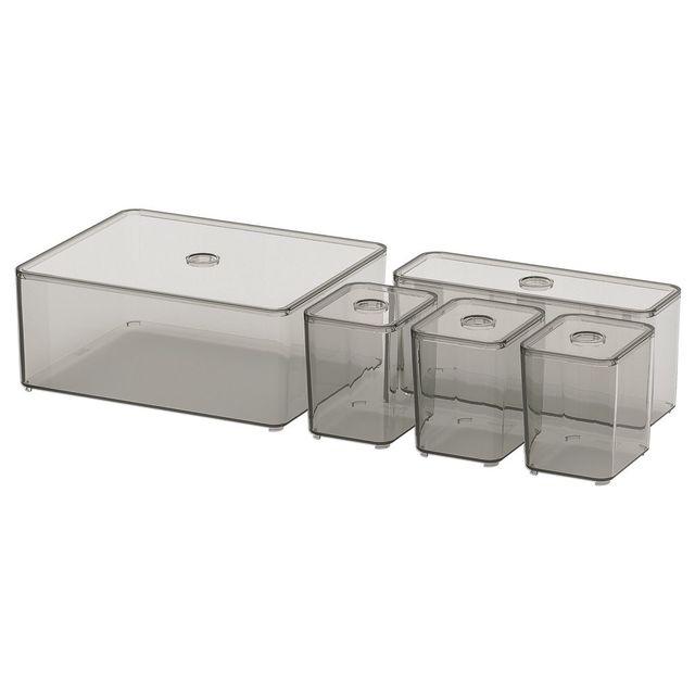 IKEA ふた付きボックス5点セット