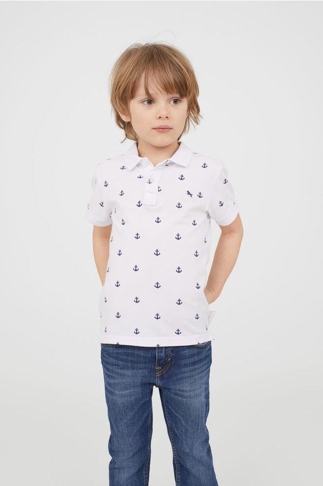 H&Mのピケポロシャツ