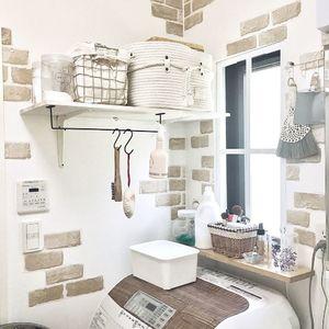 ニトリのプチプラアイテムを活用!簡単に真似できるオシャレな洗面所アイデア5選♡