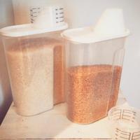 """無印良品の""""米びつ""""が便利♪保存容器の活用術も凄かった!"""