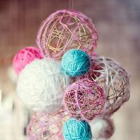 子ども部屋がおしゃれに♡毛糸と風船で作る簡単「ランプシェード」