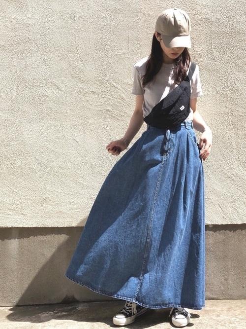 wearのフレアスカートコーデ