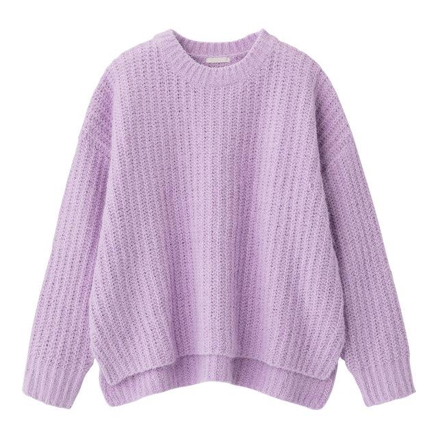 モールフェザーヤーンオーバーサイズセーター