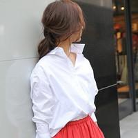 「白シャツ」大活躍!【2017秋版】トレンド着回しコーデ術