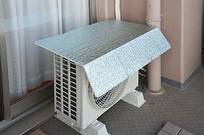 エアコン室外機専用の庇