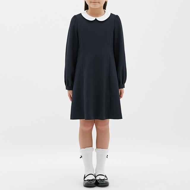 GU GIRLS襟付きワンピース(長袖)CL