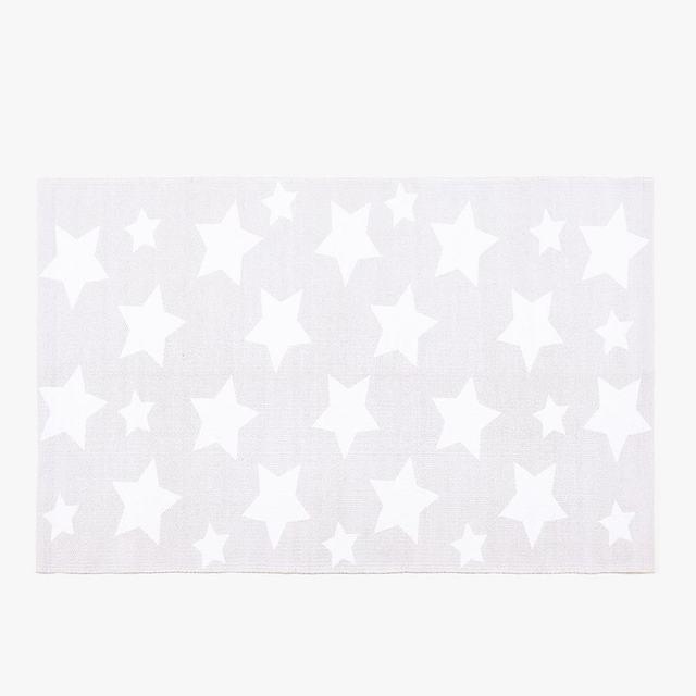 ザラホームの星柄ラグ