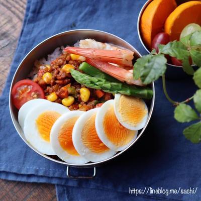 ドライカレー弁当のレシピ