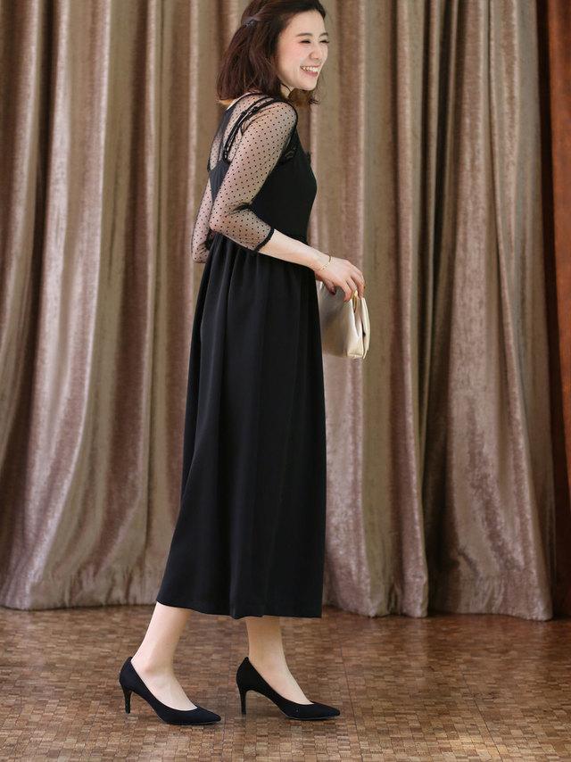 ドレスならチュール&ロング丈でトレンドを押さえて