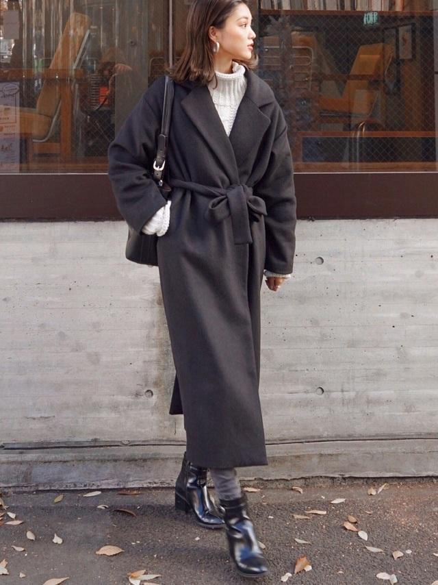 カジュアルでもコートは上質に