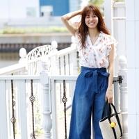 2017夏♡デニムパンツの着こなしは『オンナっぽい』がキーワード