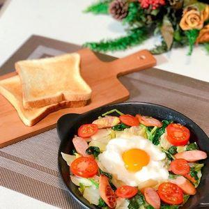 新・目玉焼き!?「エッグインクラウド」で朝食を華やかに♡