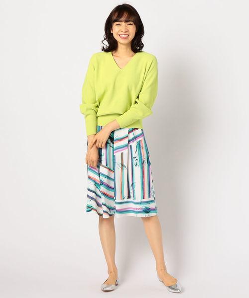 NOLLEY'S Sophi ストライプ×フラワースカート