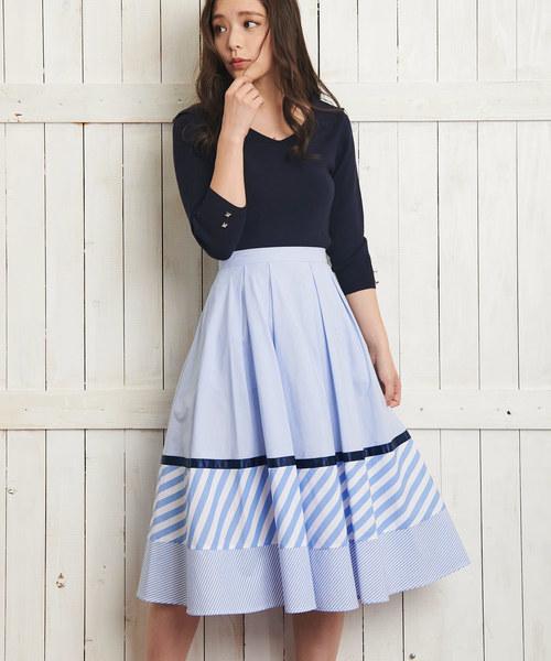 Noela ミックスパターンスカート