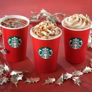 毎年恒例の赤カップ♡スタバのクリスマス限定ホリデードリンク♪