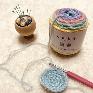 セリア《cake》で冬の編み物を♪ズパゲッティの次に注目の毛糸♡