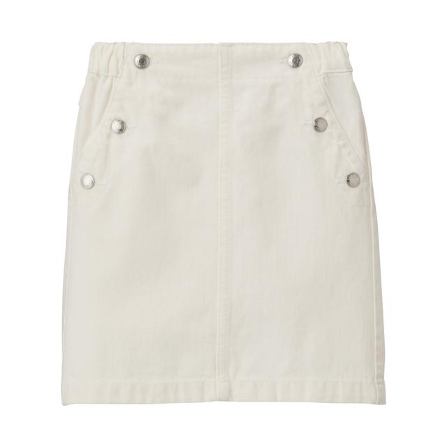GUのデニムサイドボタンスカート