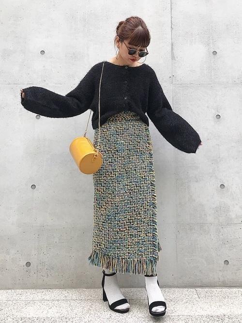 ツィード スカート