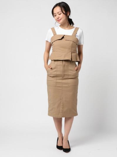 しまむらのビスチェ+スカートセット