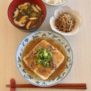 """15分で【一汁二菜】が完成♪""""豆腐""""が主役のスピード献立"""