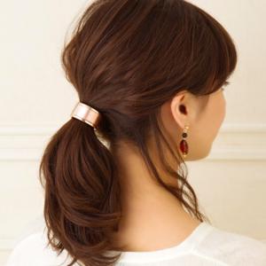 リングを被せるだけ♡「カフポニー」のヘアアレンジが簡単かわいい♪