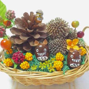 どんぐりトトロが可愛い♡木の実や落ち葉遊びでアートを楽しもう♪
