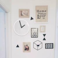 IKEAの時計「STOLPA」がおしゃれ!モノトーンインテリア実例