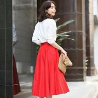 エレガント&おしゃれが叶う♡春は「フレアスカート」が手放せない!