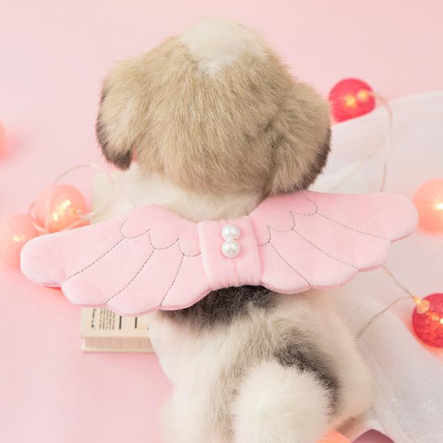 ペット用天使の羽コスチューム