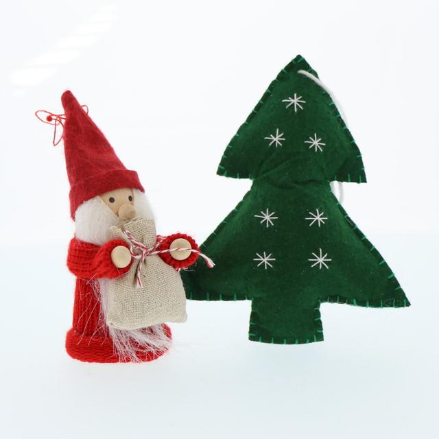 フェルト素材のクリスマスインテリア