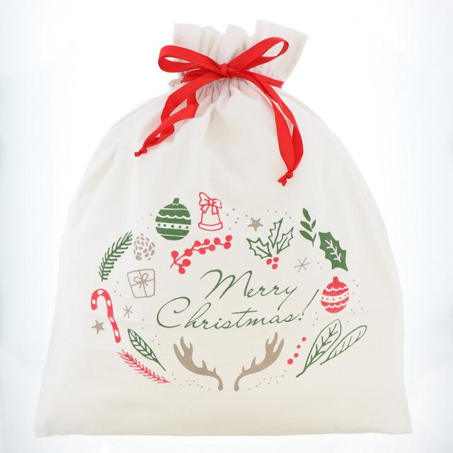 プレゼントのラッピングに使えるクリスマスバッグ