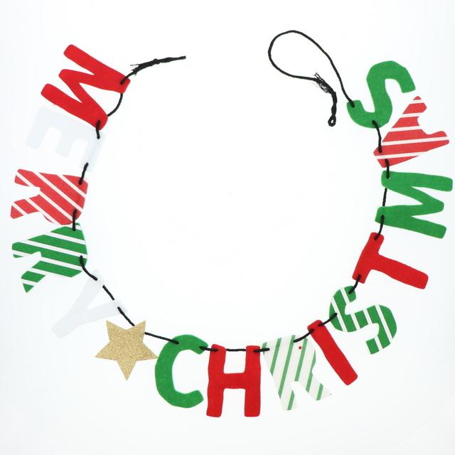 クリスマスのフェルトガーランド