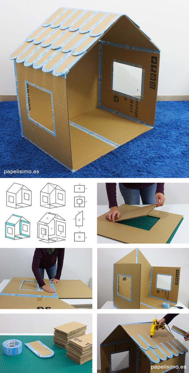 ダンボールハウスの作り方