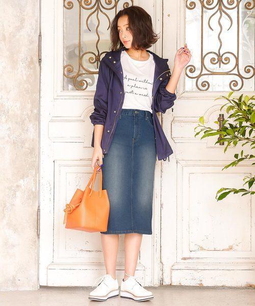 KOBE LETTUCEのミディアム丈ストレッチタイトスカート