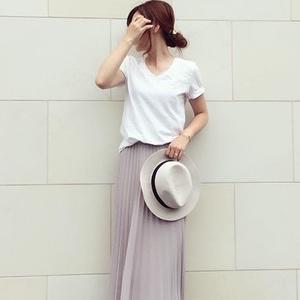 値下げで狙い目♡ユニクロ「シフォンプリーツスカート」色別コーデ術