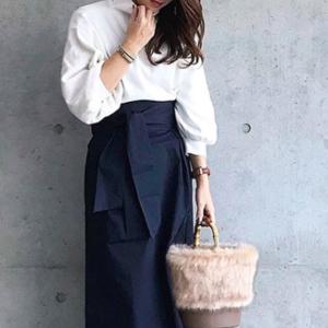 スタイルアップが叶う♡GU「ハイウエストスカート」で春コーデ
