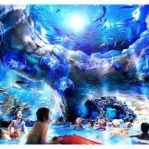 日本初!「流れる」アクアリウムプールがハワイアンズにオープン♪