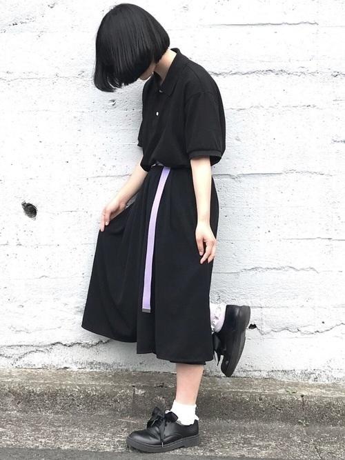 GUのオーバーサイズポロシャツ
