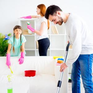 家族全員参加の「お掃除イベント」♡月1回でキレイな部屋をキープ!