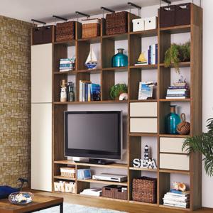 造り付け家具みたい♪人気インテリアショップの『壁面収納』5選