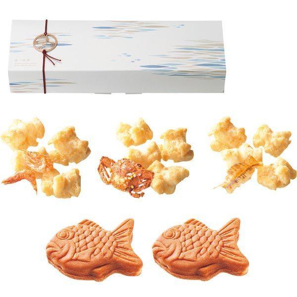 珍味入りおかき&鯛のおまんじゅう