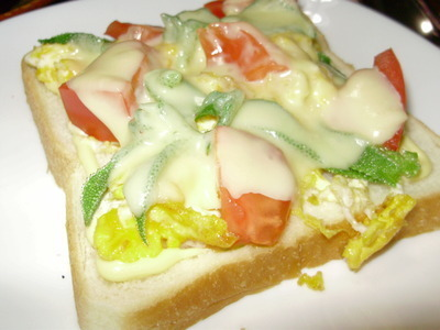 アイスプラントのトースト