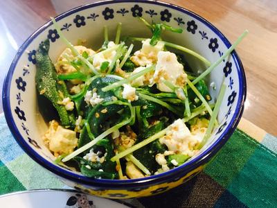 アイスプラントと豆苗のレシピ