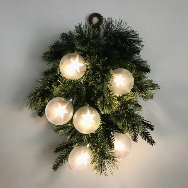 星ライトのクリスマスリース