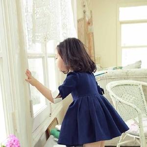 お育ちが良く見える♡女の子には優秀「ネイビー子供服」を着せたい!