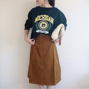 2018AW注目!『GU』フロントボタンスカートのコーデ見本5選