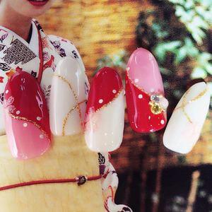 特別な日のお着物に♡誰よりも可愛くなれる華やか『和装ネイル』